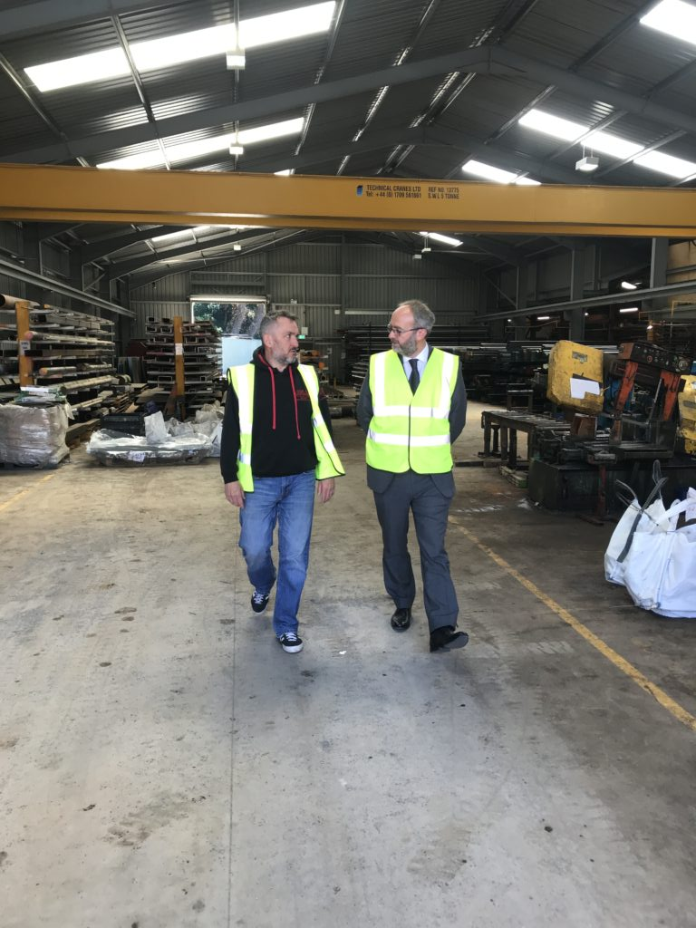Mark S Gareth H Warehouse2 Steel Services Yorkshire