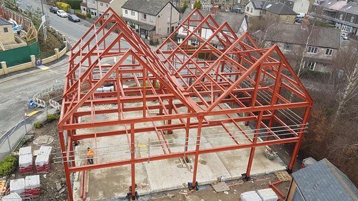 Ilkley Hotel structural steel frame