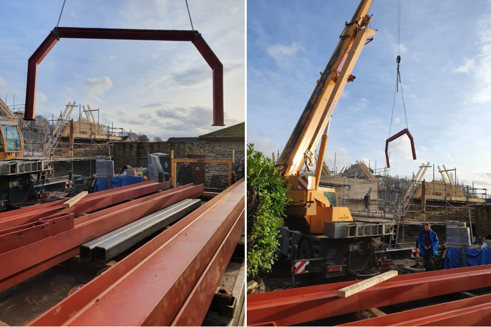 Delivery of fabricated structural steel to Brighouse