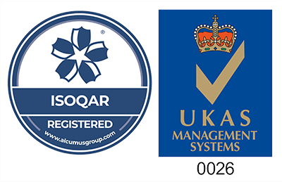 ISOQAR Registered - UKAS 0026